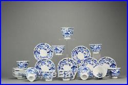 Antique 19C Japanese Porcelain Plate Blue White figures Cup Saucer Zoshu
