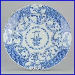 Antique 36CM ca 1700 Kangxi Chinese Porcelain Charger Blue and White China