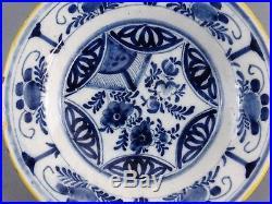 Antique Blue & White Dutch Delft Plate