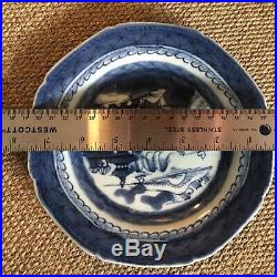 Antique Blue White Plate Chinese Export Canton Nanking Porcelain