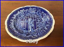 Antique Blue & White Staffordshire Transferware CUPID IMPRISONED 9 Plate
