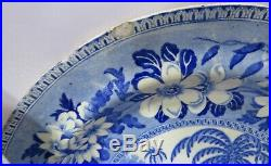 Antique C19th Set of 6 Blue & White Transferware Plates Camel Dromedary Pattern
