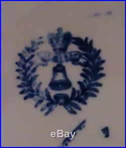 Antique Ceramic Plate white with blue transfer of Willow P J. & M. P. B. & Co