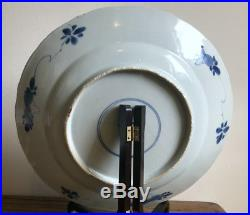 Antique Chinese 17th/18th Century Kangxi Export Porcelain Blue and White Plate