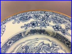Antique Chinese Blue And White Plate 18th Century Kangxi 1