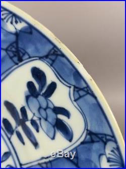 Antique Chinese Blue And White Plate 18th Century Kangxi 3
