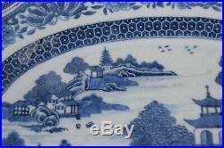 Antique Chinese Blue & White Dish Qianlong period Rococo dish