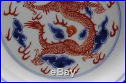 Antique Chinese Blue & White Porcelain Dish