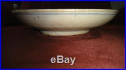 Antique Chinese Blue & White Porcelain Plate Bowl Underglazed Cobalt Duck Dragon
