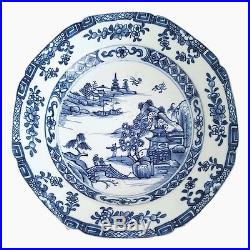 Antique Chinese Blue and White Porcelain Plate, late 18C / early 19C