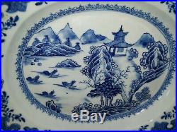 Antique Chinese Blue and White Porcelain Platter Dish