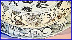 Antique Chinese Blue&white Porcelain Dragon Amid Auspicious Clouds Charger