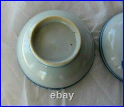 Antique Chinese Blue & white Porcelain Plate Dish Bowl Figures Ming Dynasty