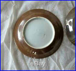 Antique Chinese Blue & white Porcelain Plate Dish Bowl x 3 Kangxi 1662-1722