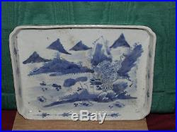 Antique Chinese Ceramic Blue and White Dish