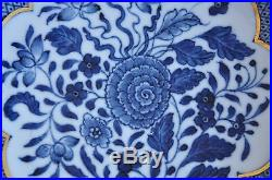 Antique Chinese China Plate Ware Porcelain Qianlong Qing Dynasty Blue White 18c