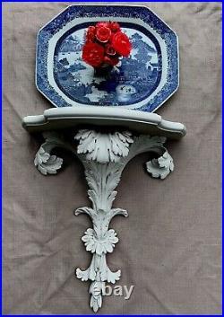 Antique Chinese Export Blue White Porcelain Platter