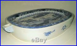 Antique Chinese Export Blue & White Warming Plate