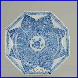 Antique Chinese Kangxi / Yongzheng SE Asian Market dish Blue White Lotus
