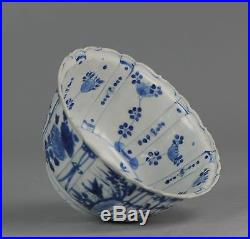 Antique Chinese Porcelain ca 1600 Blue & White Crow Kraak Cup Ming Wanli 17th c