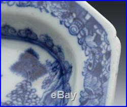 Antique Chinese Qianlong Blue & White Small Sized Serving Dish C. 1770