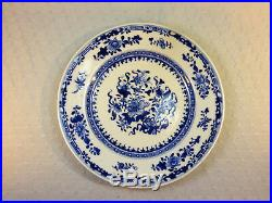 Antique Chinese Qianlong Blue & white Plate AND Millefleur plate Qianlong Mark