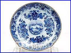 Antique Chinese/oriental Blue & White Painted Dish C. 1800