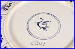 Antique Chinese plate, KANGXI mark and of the period, blue and white 1662-1722