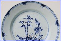 Antique Chinese porcelain blue and white plate dish 18th Century
