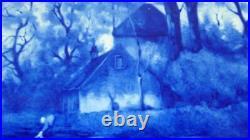 Antique De Porceleyne Fles Blue & White Delft Charger Thooft & Labouchere 1895