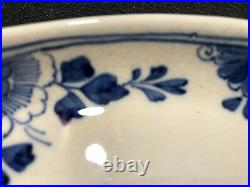Antique Dutch Blue & White Royal Delft Oval Serving Platter 1906, AB Marks
