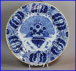 Antique Dutch Delft blue and white plate, circa 1750