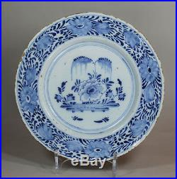 Antique English blue and white delft plate, 18th Century