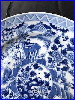 Antique Export China Porcelain Blue And White high quality Plate