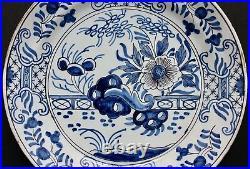Antique Faience blue & white Plate Mark AK Adrianus Kocx, Delft 18th/19th c