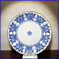 Antique Japanese Edo 17thC Ai Kakiemon Blue & White Porcelain Plate Arita Imari