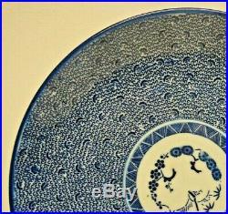 Antique Japanese Imari Stylized Blue White Porcelain Charger Plate 11