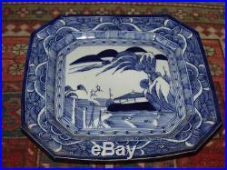 Antique Japanese Large Plate Blue & White Classic Imari Estate Sale