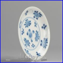 Antique Kangxi ca. 1700 Blue White Chinese Porcelain Plate China Qing