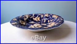Antique Meissen High Relief Cobalt Blue, Gold and White Layered Plate