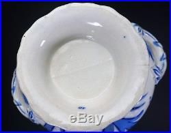 Antique Pearl Ware Pottery Thomas Dimmock Blue & White Sauce Tureen Plate