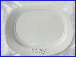Antique Pearlware Pottery Meat Platter Plate Willow Blue White Pattern