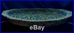 Antique Rare Iznik Reticulated Big Plate in Blue and White. MUST SEE! SALE