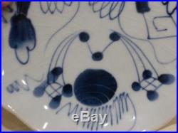 Antique Superb Japanese Edo Era Ko Imari (Old Imari) Blue White Plates Set of 5
