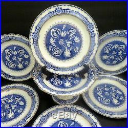 Antique WEDGWOOD Blue & White AESTHETIC Transferware Dessert Plates Set A DURER