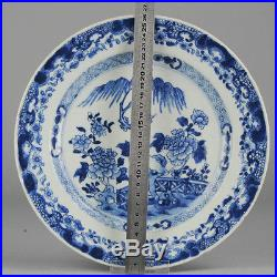 Antique Yongzheng/Qianlong 18th C Chinese Blue &White Porcelain Plate China Qing
