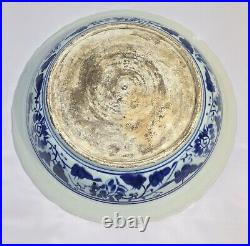 Antique Yuan to Ming Dynasty Chinese Warrior Horse Blue and White Charger
