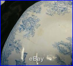 Antique blue and white platter, Chinese export, meat plate