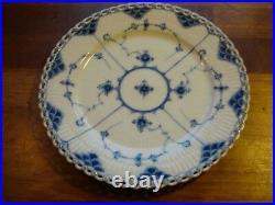 Antique pre-1890 Plate BLUE FLUTED FULL LACE Royal Copenhagen 23 cm