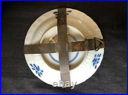 Antique small Chinese Blue & White Porcelain Plate Kangxi Mark & Period